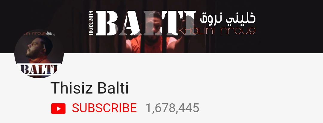 Balti Tunisie : Top 10 des chaînes YouTube ayant le plus d'abonnés