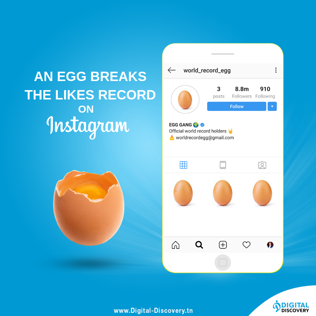 Egg instagram likes record