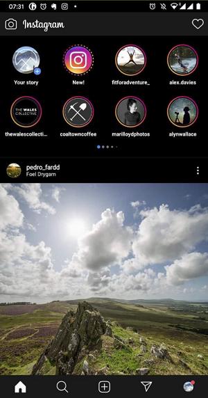 Instagram test new stories 2020
