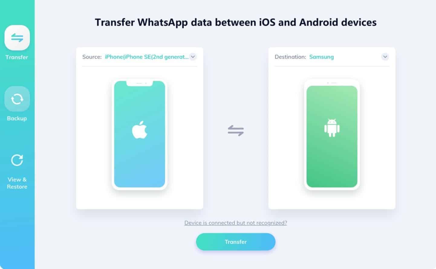 Whatsapp transfert data iod android